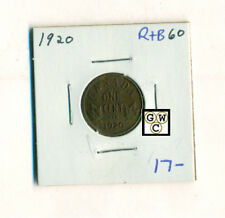1920 Canada 1 cent coin , Red + Brown (OOAK)