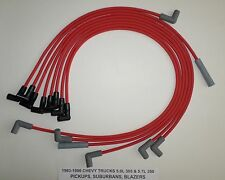1983-1986 CHEVY PICKUP-BLAZER-SUBURBAN 5.7L 350 305 8mm RED SPARK PLUG WIRES-USA