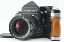 【NEAR MINT++++】 PENTAX 67 TTL Late Model w/ SMC P 67 75mm F/2.4 + Grip JAPAN