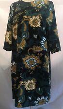 BNWT PER UNA Black Floral  Stretch Tunic Dress  UK 16 EU 44 SAVE £££s