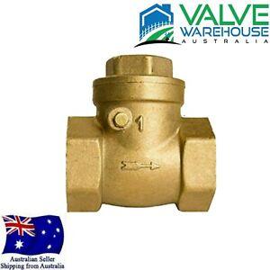 Brass Swing Check Valve BSP - in 15mm, 20mm, 25mm, 32mm, 40mm, 50mm, 80mm, 100mm
