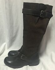 MIZ MOOZ Archer Harness Boots Equestrian Snakeskin Brown Leather Riding 10/41