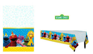 "Sesame Street Party Supplies PLASTIC TABLE COVER / TABLE CLOTH 54"" x 96"""