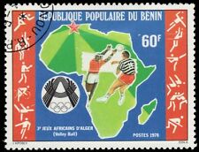 """BENIN 404 (Mi145) - Afrivan Games """"Map and Volleyball Players"""" (pa72696)"""