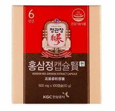 100pcs Cheong Kwan Jang 6 Year Korean Red Ginseng Capsule Hyun 500mg Herbs_NN