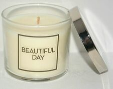 BATH & BODY WORKS BEAUTIFUL DAY SCENTED WAX 1 - WICK 4 OZ CANDLE JAR MEDIUM NEW