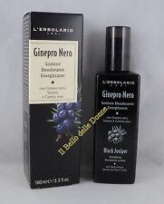 L'ERBOLARIO Lozione Deodorante Energizzante GINEPRO NERO 100ml uomo deodorant