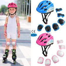 Kids Boys Girls Safety Roller Skating Bike Helmet Knee Elbow Protective Gear Set