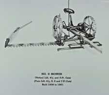 IH International McCormick-Deering #9 No 9 Hay Sickle Mower Parts Manual Catalog