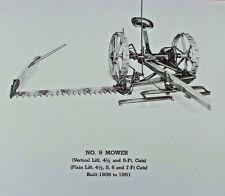 Ih International McCormick-Deering #9 No 9 Hay Sickle Mower Parts Manual Catalog