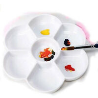 5PCS Good Quality Plastic 7 Well Daisy Shaped Watercolour Paint Mixing Palette