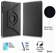 360 Rotating PU Leather Case Cover For Samsung Galaxy Tab A 8.0 T350/P350 Black