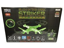 NIB Striker Glow-in-the-Dark RC Spy Drone Green Picture & Video World Tech Toys