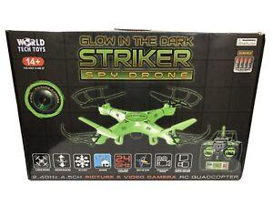 NIB Striker Glow-in-the-Dark RC Spy Drone Green Picture & Video World Tech Toys
