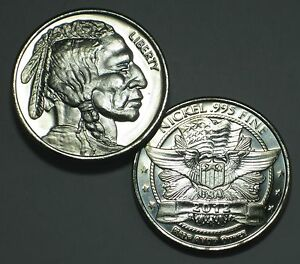 2012 ONE HALF OUNCE INDIAN HEAD LIBERTY NICKEL BULLION ROUND .995 NICKEL 1/2 OZ