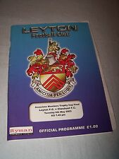 Leyton v Cheshunt 2002-2003 Associate Members Cup Final