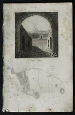 1836:POMPEI,ANFITEATRO E PIANTA CITTA.AUDOT-2 Acciaio..