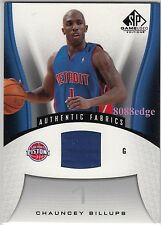 2006-07 SP GAME-USED JERSEY CARD: CHAUNCEY BILLUPS #123 PISTONS/NUGGETS/CLIPPERS