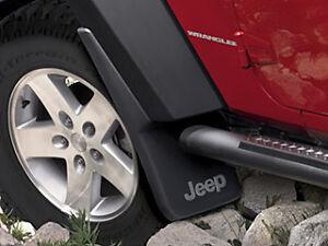 Jeep Wrangler JK 2007-2018 Mopar Splash Guards Mud Flaps OEM FRONT SET 82210233
