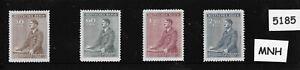 #5185   MNH Stamp set / 1942 Third Reich / Adolph Hitler Birthday / WWII Germany