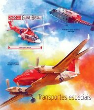 Agusta Westland AW139 Air Ambulance Helicopter Aircraft Stamp Sheet (2015)