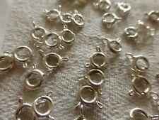 lot de 50 ancien fermoir à ressort création bijou bracelet collier argenté