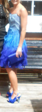 Limited Edition Karen Millen Occasion Races Ball Prom dress size 6 (Blue)