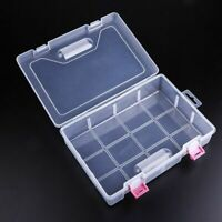 Plastic Transparent Nail Art Tool Rhinestone Storage Box Jewelry Container Case