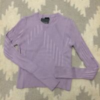 NEW $45 TOPSHOP 6 Cutabout Ribbed Cropped Crop Sweater Top Shirt Lilac Purple