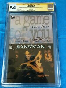 Sandman #34 - DC - CGC SS 9.4 NM - Signed by George Pratt, Colleen Doran, Klein