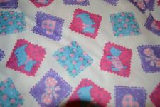 Super soft Valentine Fabric Patchwork Squares Hearts Bows Schnauzers on White ba