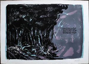 MARTINI QUINTO litografia L'Inferno Canto I 50x70 firmata numerata (Dante)