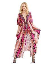 Fucshia Snakeprint Silk Shahida Parides Maxi / Beach Cover O/S