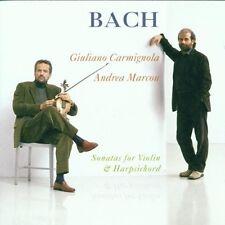 Giuliano Carmignola - Bach: Sonatas for Violin & Harpsicord [New CD]