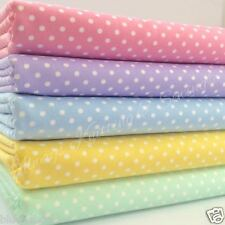 5 FAT QUARTER BUNDLE polka dot basics  pastels pink lilac... 100 % cotton fabric
