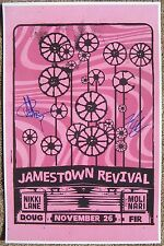 Signed JAMESTOWN REVIVAL Gig POSTER In-Person w/Proof Concert Autograph