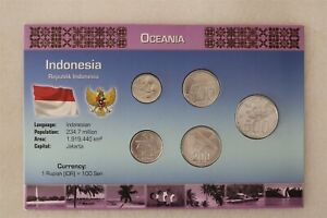 INDONESIA COIN SET WITH COA B38 #58