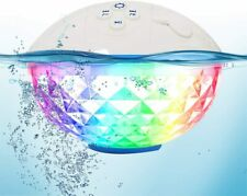 Floating Pool Light With Portable Bluetooth Speaker Colourful Lights, Party
