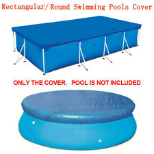 Rectangle/Round Swimming Pool Cover for Garden Outdoor Paddling Family Pools Set