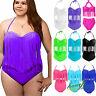 Women's Bikini Strappy Fringe Tassel High Waisted Push Up Bathing Suit Plus Size