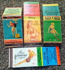 Four 1940s-50s PIN-UP GIRL MATCHCOVERS.....Colorado & Nebraska