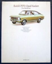 """buicks"" OPEL KADETT BROCHURE-Inc ralleye 1970 (USA)."