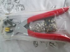 A  LEATHER PUNCH AND RIVET PLIER ,BRAND NEW AND SEALED,WITH RIVETS