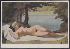 GER 33617) Kunst AK HDK Nr. 150 Ivo Saliger Einklang Akt Frauen Nacktportrait