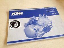KTM 125 200 engine moteur spare parts list pièce détachée SX MXC EXC GS SGP