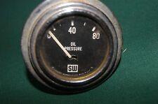 """Nice used Vintage Stewart Warner LARGE BLOCK oil gauge 2 1/16"""" electrical"""