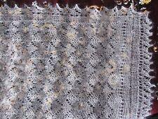 """Beautiful hand knitted down Orenburg Shawl/Scarf (57""""х23"""") Gray"""