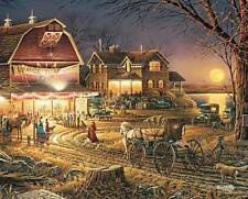 WHITE MOUNTAIN JIGSAW PUZZLE HARVEST MOON BALL TERRY REDLIN 1000 PCS #1069