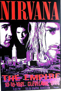 NIRVANA -  THE EMPIRE - CLEVELAND 1991 -  2ND PRINT SCARCE - A BEAUTY