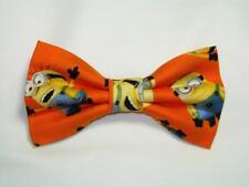 Cartoon Bow tie, Yellow henchmen on Orange-Birthday Smash Cake, Pre-tied Bow tie
